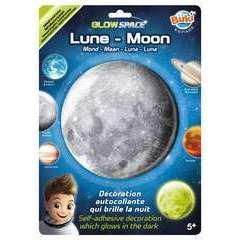 Déco autocollante, phosphorescente - Lune