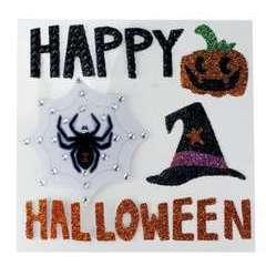 Stickers paillettés 'Halloween' assortis (x5), 3 à 6 cm