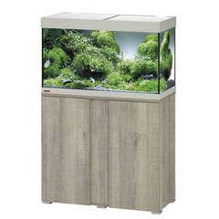 Aquarium avec meuble Vivaline en bois gris - 126 litres