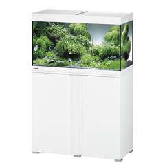 Aquarium avec meuble Vivaline en bois blanc - 126 litres