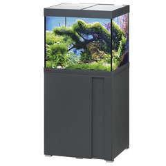 Aquarium avec meuble Vivaline en bois gris - 150 litres