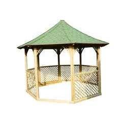 Pavillon octogonal de luxe, en bois massif - 8,78 m²