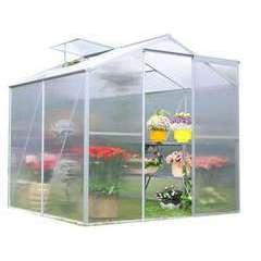 Serre jardin, structure alu/polycarbonate - 2,39m² + embase
