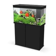 Aquarium avec meuble Emotion Nature Pro 100 noir - 195 litres