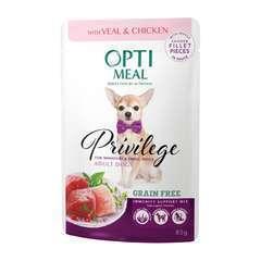Optimeal chien mini veau + p 85g