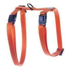 Harnais réglable en nylon, pour chat: orange, 10-35/50cm