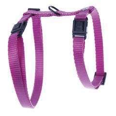 Harnais réglable en nylon, pour chat: rose, 10-35/50cm