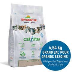 Litière végétale pour chat Catlitter Almo Nature - 4,54 kg
