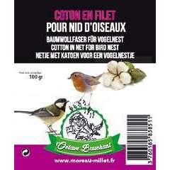 Nid coton en filet, pour oiseaux du ciel (100g)