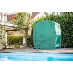 Bâche pour carport pour barbecue coloris vert en polyester 89 gr/m2
