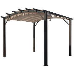 Pergola arche aluminium et acier 11,22 m2