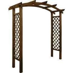 Pergola Akebia, en bois l.220 x Prof.80 x H.228cm