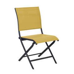 Chaise pliante ELEGANCE Grey Moutarde