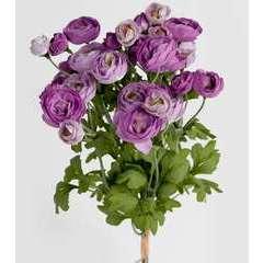 Bouquet de fleurs artificielles Renoncule H 44 cm tres dense D 20 cm L