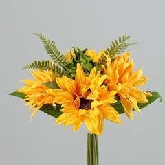 Bouquet de Tournesols fleurs artificielles D 24 cm