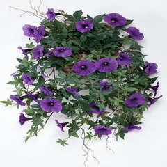 Ipomee liseron artificiel retombant en pot H 60 cm superbes fleurs Pou