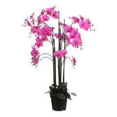 Plante artificielle : Pot phalaenopsis violet D.35 x H.117 cm