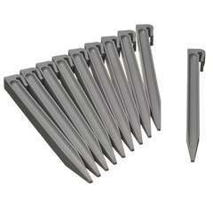 Ancres pour bordure de jardin - gris, H26,7x1,9x1,8 cm - lot de 10 pcs