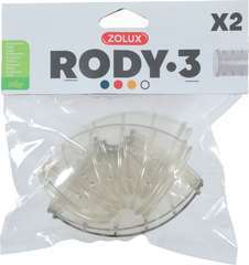 Tube coude rody gris transp