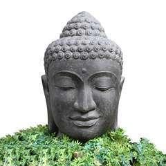 Tête de Bouddha + bassin et pompe 100 cm
