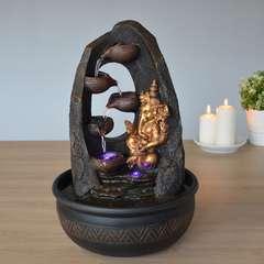 Fontaine d'Intérieur Déco Feng Shui Ganesh Mystic avec Eclairage Led
