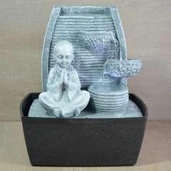 Fontaine d'Intérieur Feng Shui Statuette Bonze avec Eclairage Led