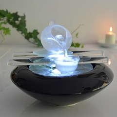 Fontaine d'Intérieur Cristal Line Tea Time en Verre avec Eclairage Led