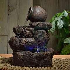 Fontaine d'Intérieur Déco Nature Nivello avec Eclairage Led