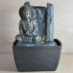 Fontaine d'Intérieur Déco Bouddha Feng Shui Sérénité - Led