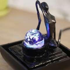 Fontaine d'Intérieur Déco Originale Yoga 1 avec Eclairage Led