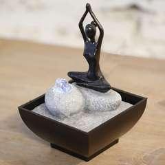 Fontaine d'Intérieur Déco Originale Yoga 2 avec Eclairage Led