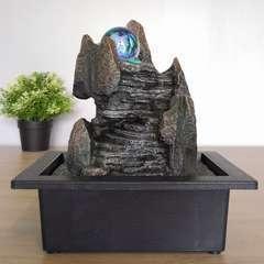 Fontaine d'Intérieur Déco Style Nature Scala avec Eclairage Led