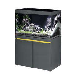 Aquarium Incpiria LED poisson d'eau douce, gris - 330 litres