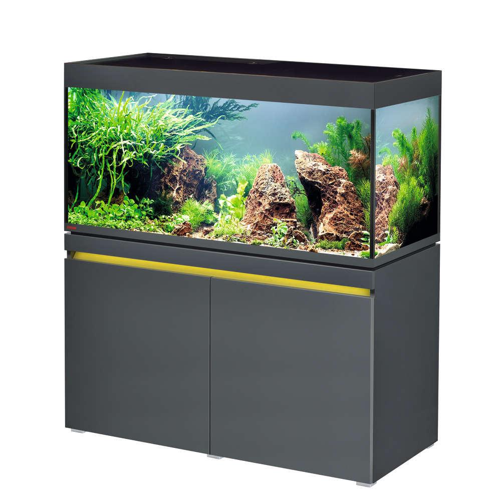 Aquarium Meuble Poisson D Eau Douce Gris 430 Litres Truffaut