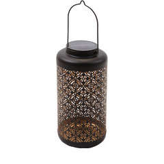 Andaluz, lanterne métal avec 22 mini LED, hauteur 31cm