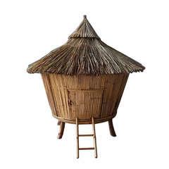 Poulailler Tiki Bambou