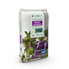 Terreau 'Terre de Vie®' pour plantes d'intérieur - sac de 5 litres