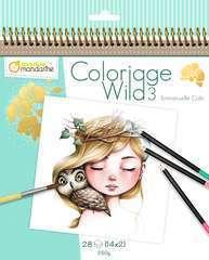 Carnet de coloriage Wild 3 - 28 feuilles