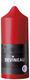 Bougie cylindrique rouge non parfumée D.6,8x17cm