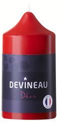 Bougie cylindrique rouge non parfumée D.6,8xH.13cm