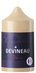 Bougie cylindrique ivoire non parfumée D.6,8xH.13cm
