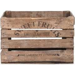 Cageot de pommes en bois, H.30 x 42 x 51cm