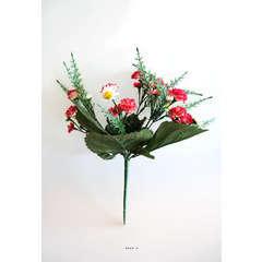 Bouquet de Marguerites et mini oeillets artificiels Hauteur 28 cm Top