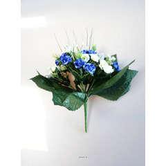 Bouquet de Roses artificielles 35 fleurs avec feuillage H 24 cm