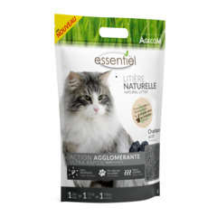 Litière végétale pour chat Essentiel Soja Charbon - 6 Litres