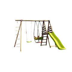 Station jeux enfant NOPAL  H235cm plateforme toboggan echelle
