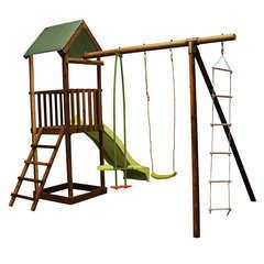 Aire de jeux MELIA en Pin Toboggan, balançoire, échelle, visàvis 235cm