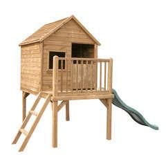 Maisonnette pour enfant pilotis avec toboggan MARIA L173,5xl80xH61 cm