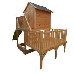Maisonnette et toboggan pour enfant IGOR 3 niveaux L1130xl115xH45 cm