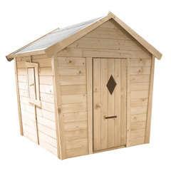 Maisonnette pour enfant en bois PAULINE  L 153 x P 127 x H 145 cm